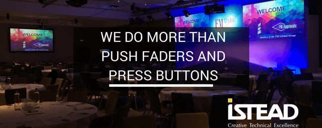 We Do More Than Push Faders and Press Buttons