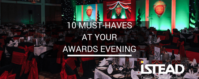 10 Must-Haves at Your Awards Evening